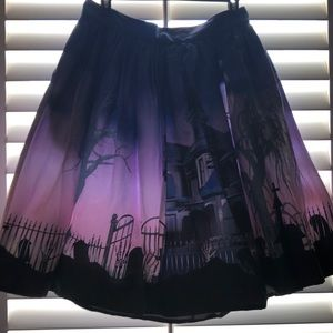 Halloween haunted house skirt